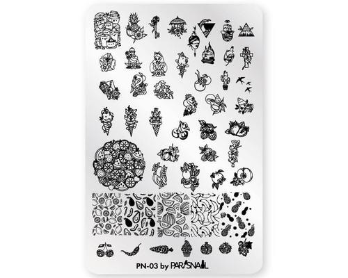 ПЛАСТИНА ДЛЯ СТЕМПИНГА PN-03 (9.5*14.5 СМ) PARIS NAIL